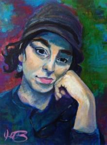 """Catharsis, 12"""" x 9"""", acrylic on canvas."""