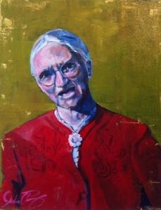 """The Cardinal Rule. 20"""" x 16"""", acrylic on canvas."""