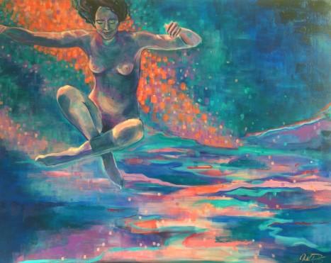 "Equilibrium, 48"" x 60"", acrylic on canvas."
