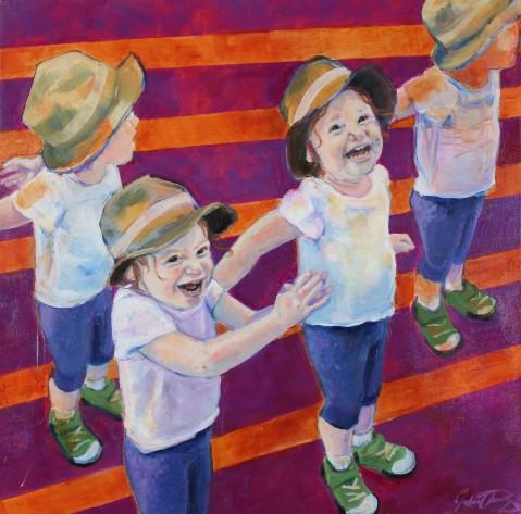 "Julia C. Pomeroy, Quatre Temps, 24"" x 24"", acrylic on canvas."
