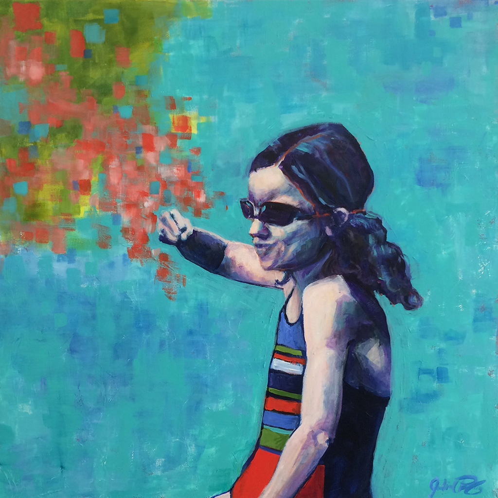 "Julia C Pomeroy - Tough Cookie, 30"" x 30"", acrylic on canvas, AVAILABLE"